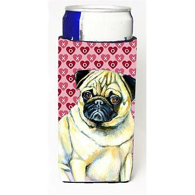 Pug Hearts Love And Valentines Day Portrait Michelob Ultra s For Slim Cans 12...