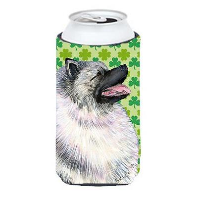 Keeshond St. Patricks Day Shamrock Portrait Tall Boy bottle sleeve Hugger 22 ...