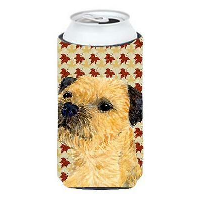 Carolines Treasures Border Terrier Fall Leaves Portrait Tall Boy Hugger