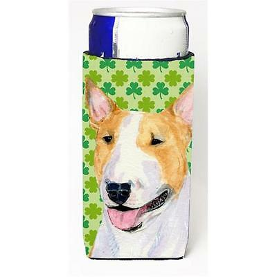 Bull Terrier St. Patricks Day Shamrock Portrait Michelob Ultra bottle sleeves...