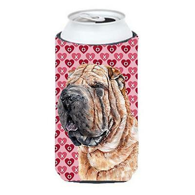 Shar Pei Hearts And Love Tall Boy bottle sleeve Hugger 22 To 24 Oz.