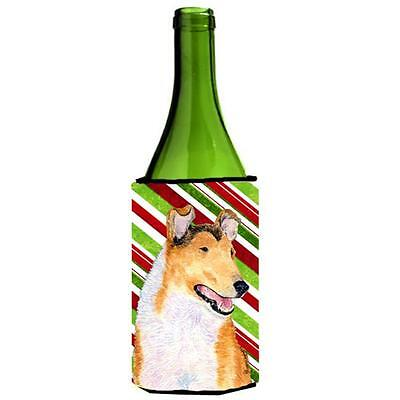 Collie Smooth Candy Cane Holiday Christmas Wine Bottle Hugger 24 oz.