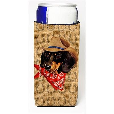 Dachshund Dog Country Lucky Horseshoe Michelob Ultra bottle sleeves For Slim ...