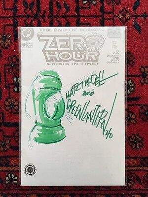 ZERO HOUR #0 Signed & Remarked by Marty Nodell VF/NM