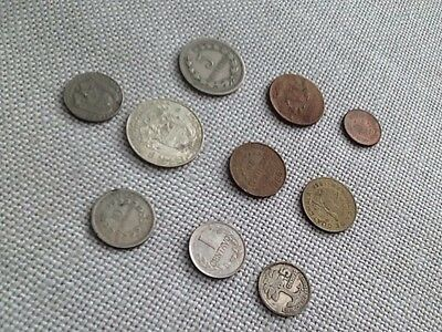 Vintage South American Coins, Lot Of Ten