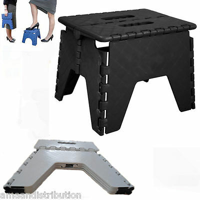 New Sturdy Single Step Stool Plastic Foldable Colourful Stool Easy Folding Chair