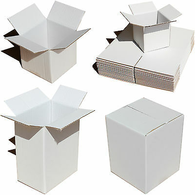 White Shipping Boxes Small Medium Large Storage Postal Cake Party Gift Cardboard
