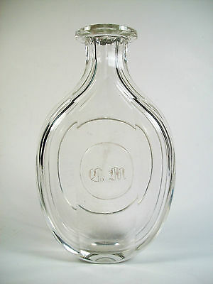 Antique Georgian Glass Dressing Table Bottle - Monogrammed - 18th/19th Century