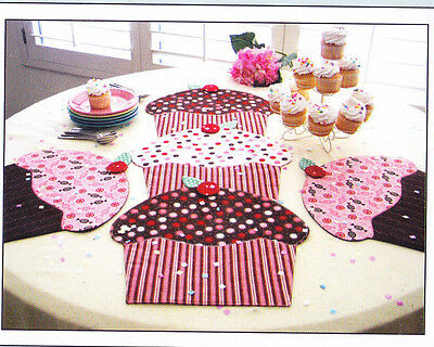 PATTERN - Cupcake Party - table runner, mats & topper PATTERN - Susie C Shore