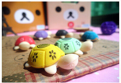 Kawaii Korean Stationery Stationary Sea Turtle Style Rubber Pencil Eraser esca