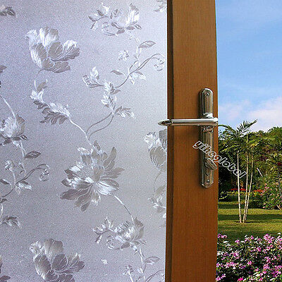 Frosted Static Window Film Decorative PVC Film Privacy Vinyl Glass Window Cling