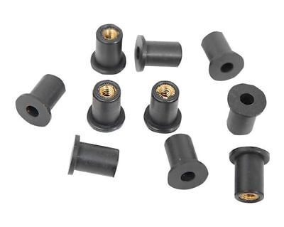 25 PACK M5 Metric Rubber Well Nuts 5mm windscreen nut wellnuts