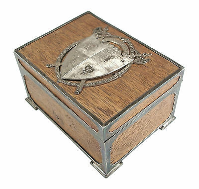 George III - Antique Oak Box with Armorial Crest - Scotland - 18th/19th Century