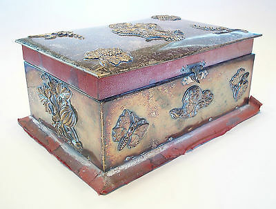 Arts & Crafts Jewelry Box with Applied Decoration - Unsigned - U K - Circa 1880