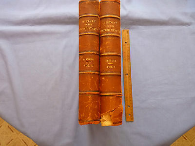 History of the United States Two Volume Set Dated 1874 First Ed Leather Covers