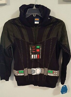 Disney Boys Star Wars Vader Zip Hoodie with Mask - Size L (14/16) - NWT