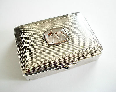 CARL HIESS - Antique Silver & Gold Box - Sapphire Closure - Austria - Circa 1880