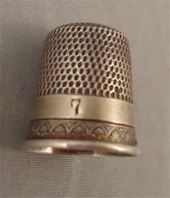 Vtg Simons Bros Co Sterling Silver Thimble Victorian Arched edge