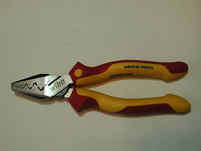 "Wiha 7"" Industrial Finished Insulated Crimping Pliers 32945"