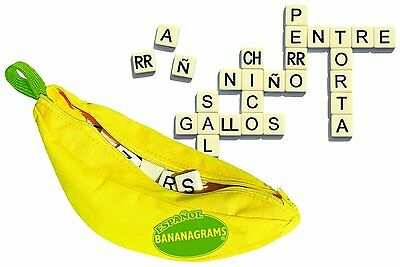 Bananagrams Word Building Scrabble Puzzle Game Spanish