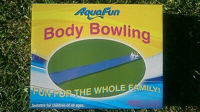 Slip n Slide Body Bowling water slide over 6 mtrs long with rain shower attached