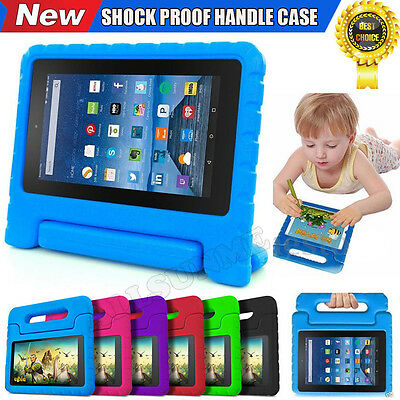 """For Amazon Kindle Fire HD 7"""" 2015 Kid Shock Proof EVA Handle Stand Cover Case US"""
