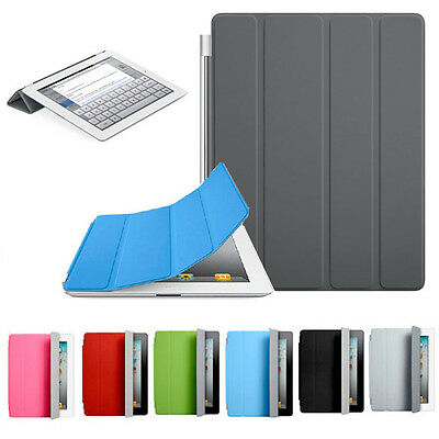Single side Magnetic Leather Smart Cover Case Stand Folio for Apple iPad 2 3 4