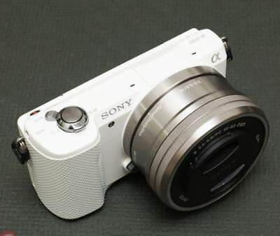 Sony A5000 Mirroless Camera (White) Selp1650 16-50mm Lens