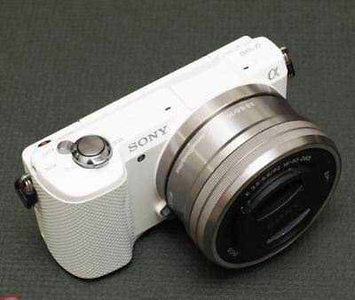 Sony A5000 Mirroless Digital Camera White Kit Selp1650 16-50mm Lens Fedex to USA