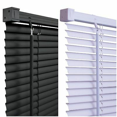 Quality PVC Venetian Blinds, 150cm Drop - Black & White available - Trimmable
