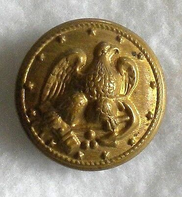 Military WWII Metal Eagle Button with 13 Star - Navy - Approx 1""