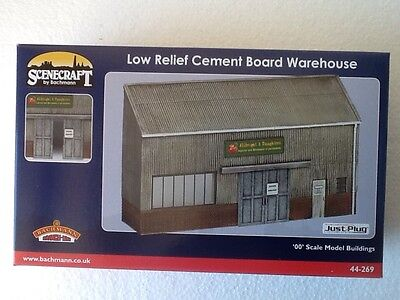 Bachmann 44-269 Scenecraft Low Relief Cement Board Warehouse Model Building