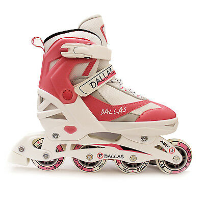 NEW California Pro Dallas Inline Junior Girls Pink Roller Skates Adjustable