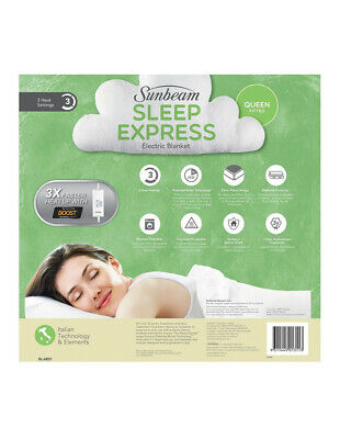 NEW Sunbeam Sleep Express Fitted Electric Blanket