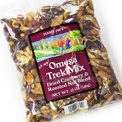 Trader Joe's Omega Trek Mix with Fortified Cranberries Roasted Nut Blend 12 oz