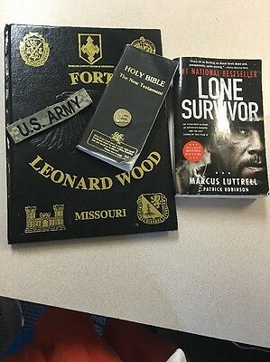 Fort Leonard Wood, U. S. Army Yearbook 12 13  Military Police Lot Book Bible Pin