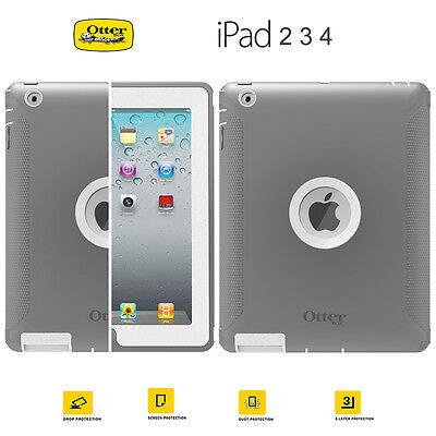 For Apple iPad 2 3 4 Genuine Otterbox Defender Series Shockproof Case Cover New