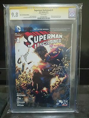Superman Unchained #1 Cgc 9.8 Wcbh Variant Signed By Jim Lee