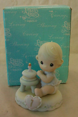 Precious Moments Age 1 Birthday Figurine #136190 Bnib