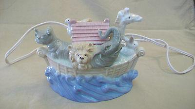 Noah's Ark Ceramic Night Light Multicolored Rhino, Lion And More