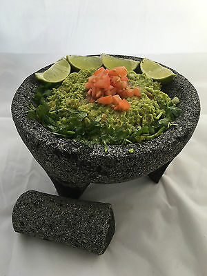 Authentic Mexican Molcajete Lava Rock Mortar and Pestle Spice Grinder Guacamole