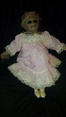 Scary Scarecrow Creepy ooak Horror China porcelian dead doll