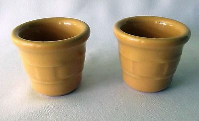 Longaberger Candle Votive Holders Yellow Butternut Traditions Woven Pair 2 Decor