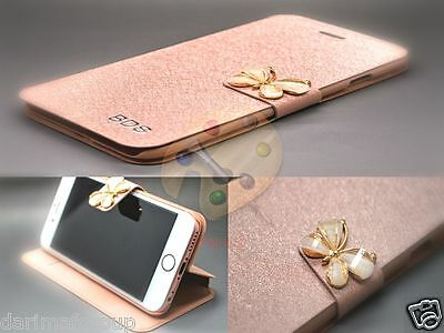 New Butterfly Flip Leather Slim Wallet Card Magnetic Case Cover For Apple iPhone