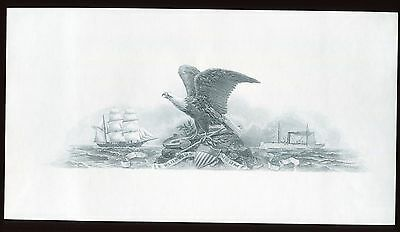 B137 Mint BEP Souvenir Card 1990 CSNS Blue Eagle & Ships Intaglio Cat $45.00