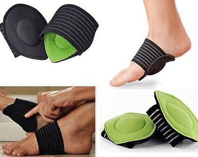 MGCA 2Pcs Elastic Soft Cushioned Arch Supports Relief for Achy Feet Foot Health