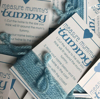 Baby Shower Game - MEASURE MUMMY'S TUMMY - TUMMY BELLY MEASURE GAME BLUE