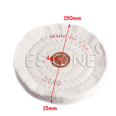 "6''/150mm Cloth Buffing Polishing Wheel 1/2"" Arbor Buffer Polish Grinder Pad"