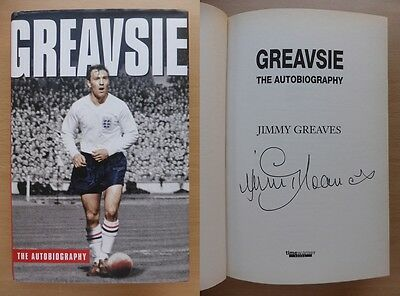 Jimmy Greaves 'Greavsie' Signed Autobiography Tottenham Chelsea England (8127)
