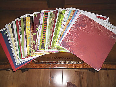 LOT OF (10) MIXED 12x12 Scrapooking Papers $$HUGE SAVINGS$$ JUST 99 CENTS!